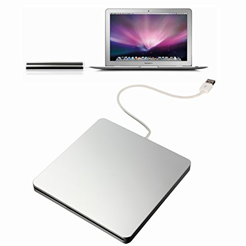 BESTRUNNER CD/DVD RW Brenner USB2.0 DVD Laufwerk Universal DVD SuperDrive (Original Chip mit 12,7mm Bauhöhe) für Apple Macbook, Macbook Pro, iMac, Macbook Air oder anderen Laptop/Desktop - schwarz