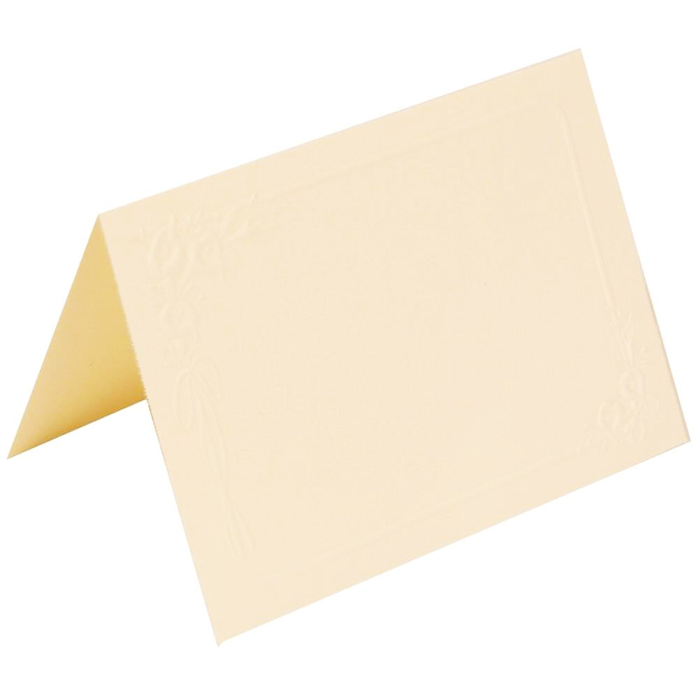 JAM Paper Place Card Set - 3 1/2'' x 2 1/2'' - Ivory Lily Wedding - 250/pack