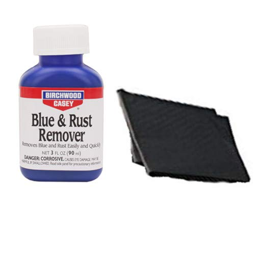 Westlake Market, Birchwood Casey Blue and Rust Remover Plus 2 Disposable Absobent Pads for Gun Restoration/Cleaning