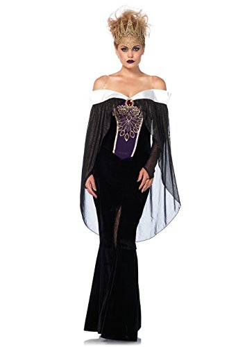 Leg Avenue Women's Bewitching Evil Queen Villain Halloween Costume, Black, ()