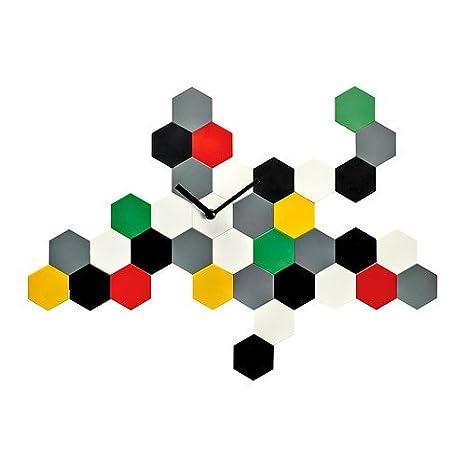 Ikea Smycke reloj de pared, varias posibilidades de Multicolor diseño contemporáneo reloj de pared: Amazon.es: Hogar