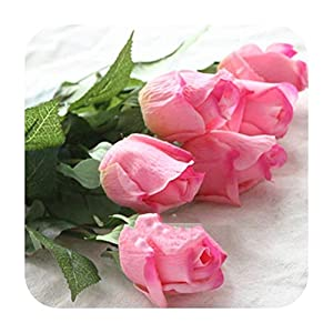MARJON FlowersArtificial Fowers 10Pcs 11Pcs/Lot Latex Rose Artificial Flowers Real Touch Rose Flowers for Year Home Wedding Decoration Party Birthday Gift,B Pink 2,11Pcs 92