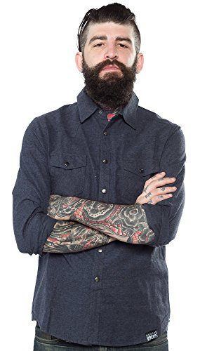 Kustom-Kreeps-Western-Shirt-Blue