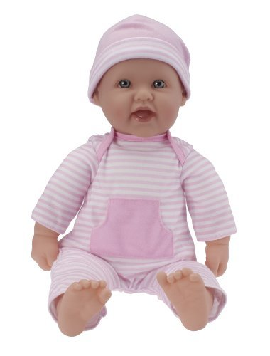 JC Toys, La Baby 16-inch Washable Soft Body Pink Play Doll -