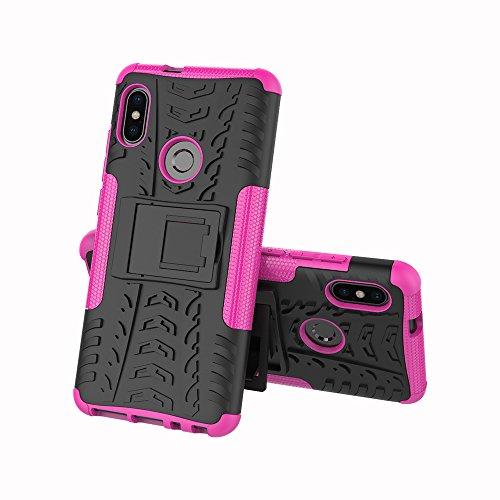 OFU®Para Nokia 6 2018 Smartphone, Híbrido caja de la armadura para el teléfono Nokia 6 2018 resistente a prueba de golpes contra la lucha de viaje accesorios esenciales del teléfono-rojo Rose Red