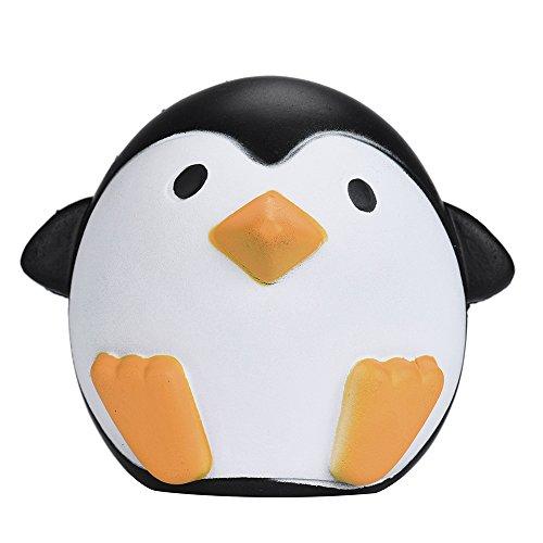 Penguin Squishies Kawaii Jumbo Penguin Soft Rising Keychains Bag Strap