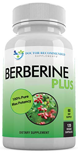 Berberine Plus 1200mg Per Serving – 120 Veggie Capsules Royal Jelly, Supports Glucose Metabolism, Healthy Immune System…