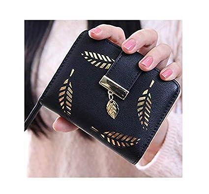 Amazon.com: Bolso tipo billetera con botón para mujer ...