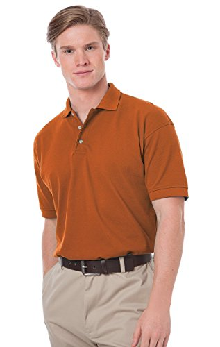 Blue Generation BG2201 Short Sleeve Cotton Polos-Polo Shirts (L, Burnt Orange)