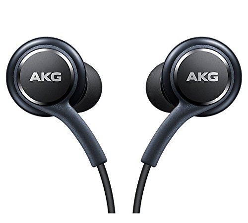 Official Galaxy S8/S8+ In-Ear Headphones [EO-IG955BSEGWW], Fone-Stuff – Tuned by AKG, Remote + Mic Hands-free Earphones – Titanium Grey  (No Retail Packaging)