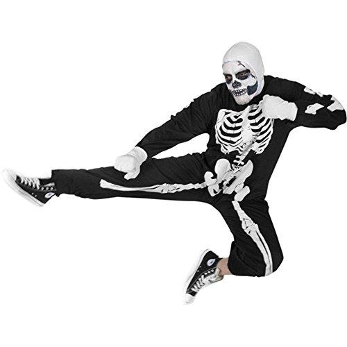 Adult Karate Kid Skeleton Halloween (Karate Kid Skeleton Suit)