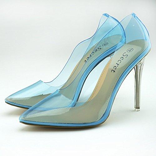In Alto Tacco Colore Footwear Scarpa Perspex Da Donna Con Donna Blu Kick YpFf06w