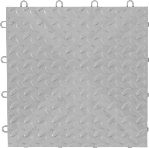 Gladiator GarageWorks GAFT48TTPS Silver Floor Tile 12'' x 12'', (48-Pack) by Gladiator