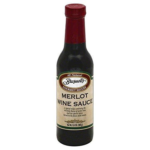 Sauce Steak Merlot Wine 9.5 ounces -Pack of 6 by Braswell - Merlot Steak Sauce