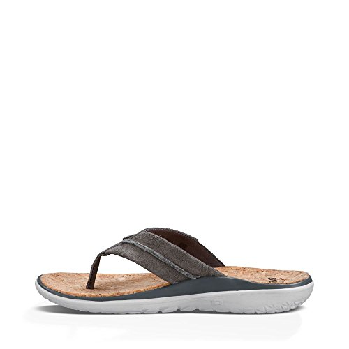 Grey Teva Lux Charcoal 5 11 Leather Terra Float Mens Flip Flop rq4t86rw