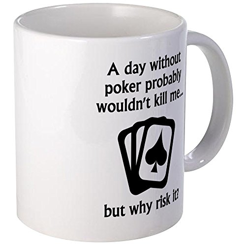 (CafePress A Day Without Poker Mugs Unique Coffee Mug, Coffee Cup)