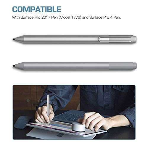 TiMOVO Pen Tips for Surface Pen, Black /& Surface Pro 4 Pen 6 Pack, Original HB Type Original Surface Pen Tips Replacement Kit Fit Microsoft Surface Pro 2017 Pen Model 1776