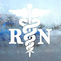 Caduceus Registered Nurse RN Decal Window Sticker