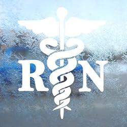 Caduceus Registered Nurse RN Decal Window Sticker