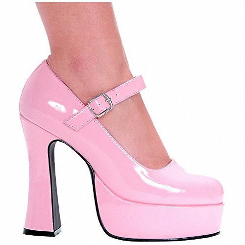 Ellie 557-EDEN Womens Sexy Comfortable 5 Chunky Heel Mary Jane Pink CcLY6yzb