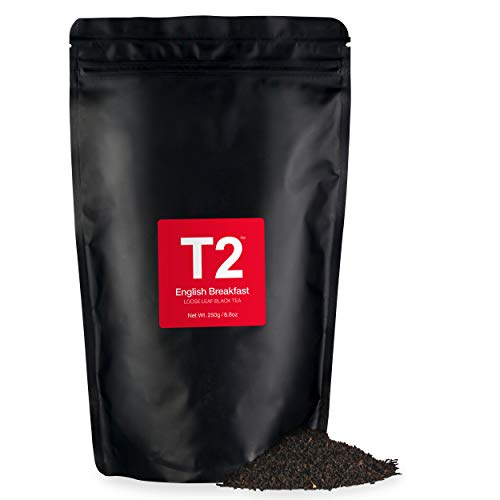 - T2 Tea English Breakfast Loose Leaf Black Tea in Resealable Foil Refill Bag, 250g (8.8 Ounce)