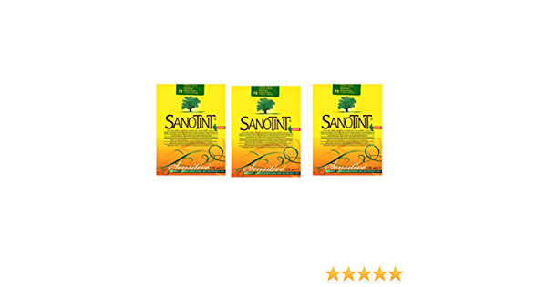 SANOTINT Sensitive Color 73 castaño natural - 3 paquetes - 3 x 125 ml