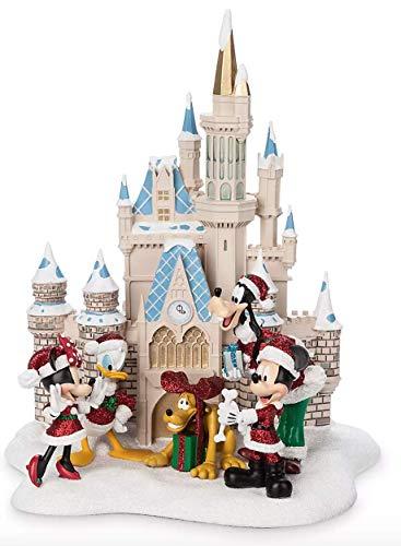 41Ik11eikFL Disney Parks Mickey and Friends Cinderella Castle Holiday Figure