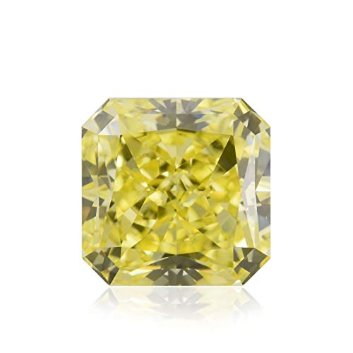 Leibish & Co 1.42Cts Fancy Intense Yellow Loose Diamond Natural Color Radiant Cut GIA Cert - Fancy Yellow Radiant Cut Diamond
