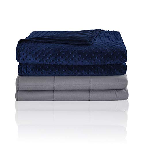 Seward Park Weighted Blanket Plus Removable Cover, 5lb, Single Size Bed, for Kids Between 40-70 lbs