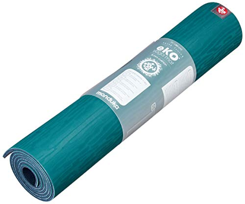 Manduka eKO Yoga Mat - Premium 6mm Thick Mat, Eco Friendly and Made from Natural Tree Rubber. Ultimate Catch Grip for Superior Traction, Dense Cushioning for Support and Stability., Sage, 71""