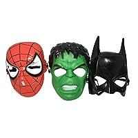 Seasons Merchandise Set of 3 Kids Masks - Spider-Man, Batman, Hulk