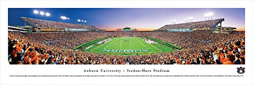 Jordan Hare Stadium - Auburn Tigers Football - End Zone - Blakeway Panoramas Unframed College Sports Posters