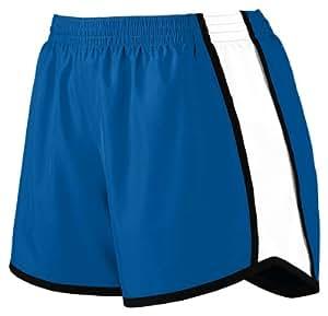 Augusta Sportswear Women's Moisture Elastic Short, Royal/White/Black, Medium
