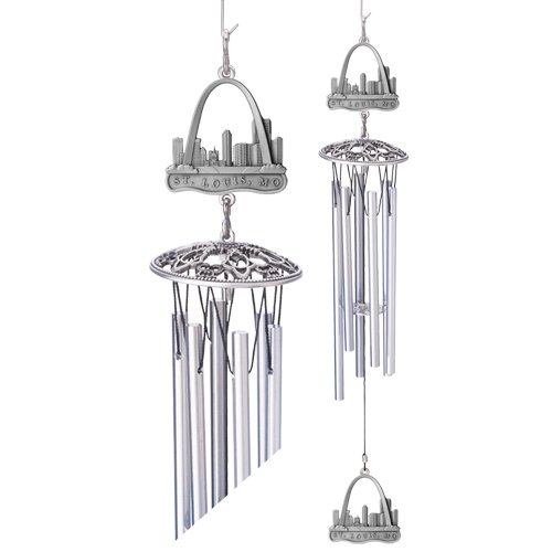 (1pc, Pewter St. Louis Wind Chime)