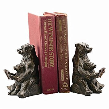 SPI Home Bear Bookends - Mom and Cub Reading Lesson