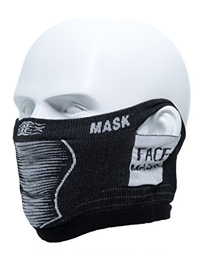 MaxMiles Multifunctional Sport Headwear Bicycle Face Mask Half Mask Ski Snowboard Paintball Tube Hat Anti Fog And Anti Dust Mask Running Headgear Bandana Face cover (Short Black)