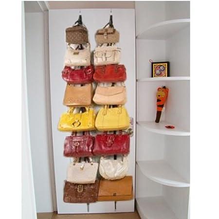 Vktech - Cinta organizadora para puertas (ideal para colgar sombreros, bolsos y ropa, 16 ganchos): Amazon.es: Bricolaje y herramientas