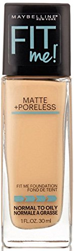 ONLY 1 IN PACK Maybelline Fit Me Matte Plus Poreless Foundation, Normal to Oily Skin, 125 Nude Beige, 1 Fl. Oz.