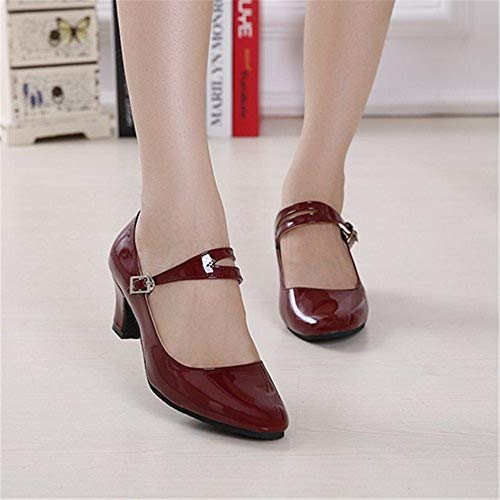 Adult Shoes 26 Soft Latin 5 professionals Dance Dance Dance 22 Latin Ladies 5cm Wine Chacha Shoes 0cm Leather Summer Samba Women's Size Height Women's Girls Shoes Jazz To Dance Shoes 0cm Red Modern wx6qxFB8I