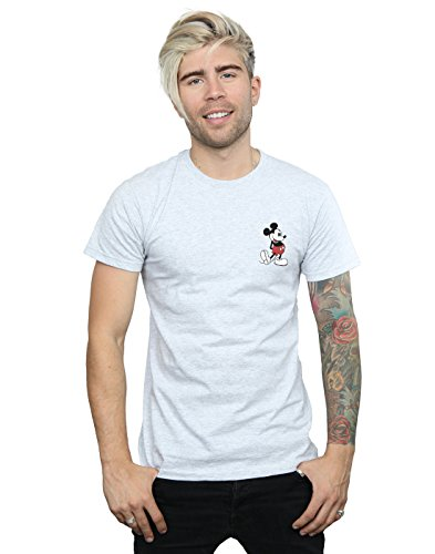 Sport Gris Homme Disney Retro Kickin shirt T Pocket Mouse Mickey UPz8wFxPn