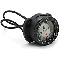 Mares XR Hand Compass with Bungee Holder, Black