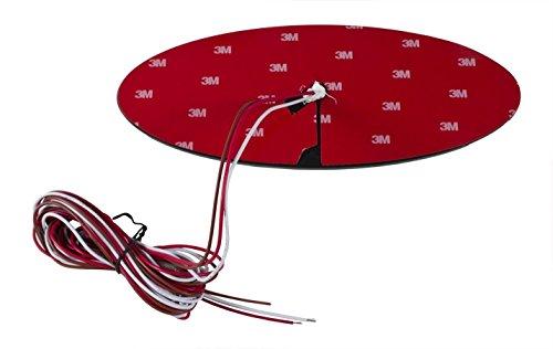 "2004-2014 F-150 7"" Tailgate Red LED Light Up All Black Oval Emblem Works WITH Back Up Camera"