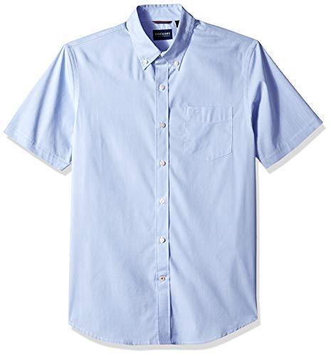Dockers Men's Short Sleeve Button Down Comfort Flex Shirt, Medium Blue Delft, X-Large (Xl Down Button Shirts Mens)