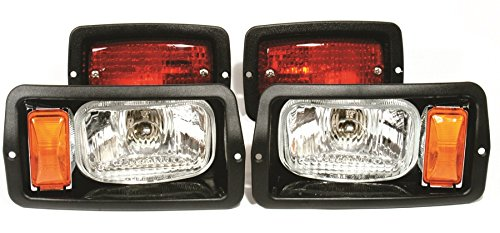 Club Car DS 1982-1992 Street Legal Deluxe Light Kit - Lights, Turn signals, Brake Lights, Horn ()