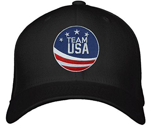 Team USA Hat - Adjustable Black Cap - America Olympic - Team Store Usa