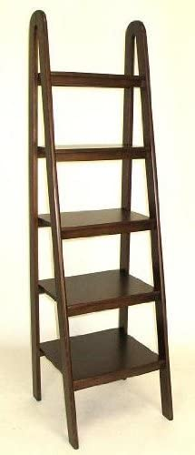 Wayborn Home Furnishing Ladder Shelf, 5 , Medium Wood