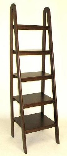 Wayborn Home Furnishing Ladder Shelf 5quot Medium Wood