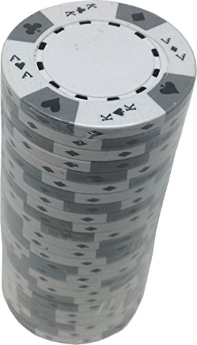 (Poker Chips - (25) White Ace King 14 g Clay Composite)