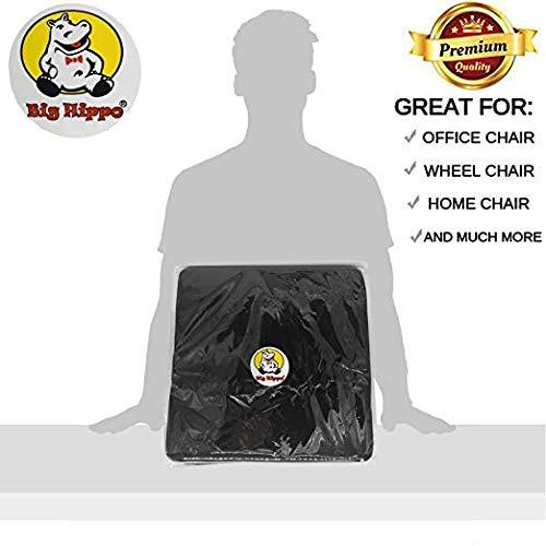 Big Hippo Seat Cushion Back, Sciatica Tailbone Pain Relief-Memory Foam Chair Seat Cushion Pad Wheelchair, Office & Car by Big Hippo (Image #6)