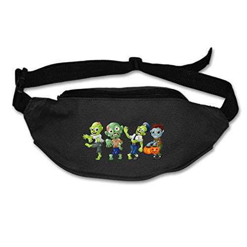 HHNYL Travel Fanny Bag Zombie Cartoon Halloween Waist Pack Sling Pocket Super Lightweight for Travel -
